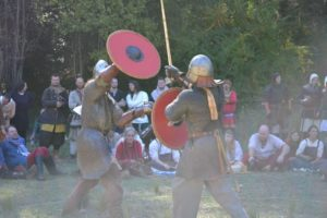 Holmgang tournament The Abbey Medieval festival