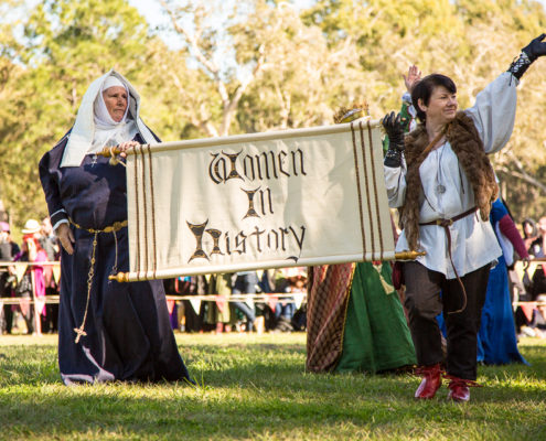 Women in History in the grand parade