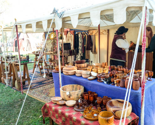 Stallholder at the Abbey Medieval Festival