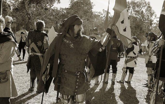 Medieval Reenactor Damien Fegan