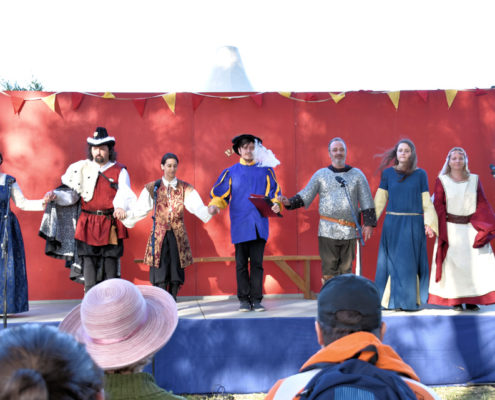Abbey House Troupe on stage
