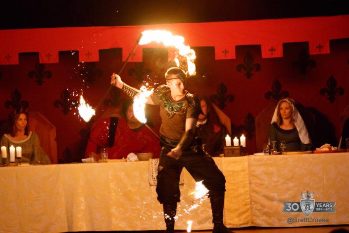 Fire dancer from Splendorem Ignis performing